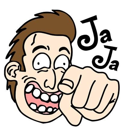 monologue: Joke pointing man Illustration