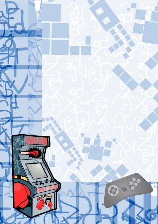 game design: Retro arcade background Illustration