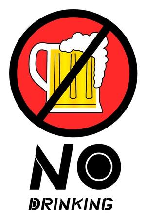 No drinking sign Ilustração Vetorial