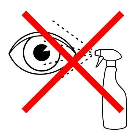 Caution eye Vector