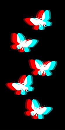 dimensinal: Visual butterfly Illustration