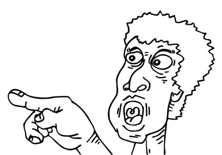 man pointing: Man pointing