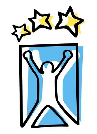 Winner emblem Stock Vector - 14831199