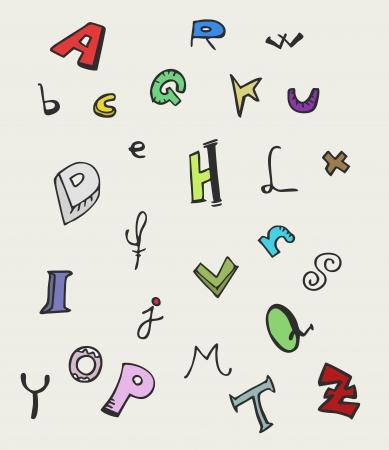 Art school font Stock Vector - 14831215