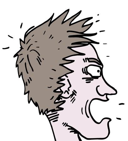 Amazing face man Stock Vector - 14831221