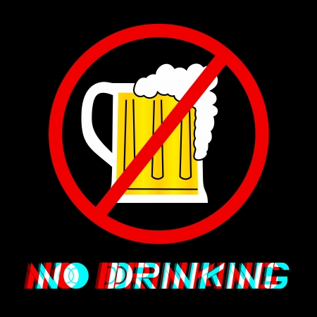 No drinking message Vector