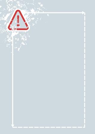 Danger sign frame design Stock Vector - 14831238