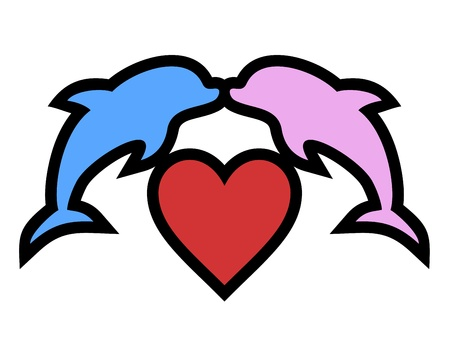 Love animal heart Vector