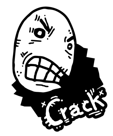 Rebel crack Stock Vector - 14996819