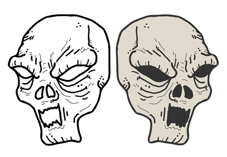Terror mask design Vector
