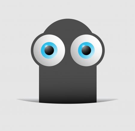 Creative eye puppet Vector Illustration
