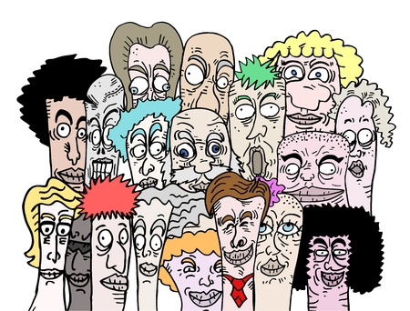 Color cartoon art friends Vector