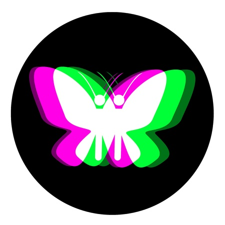 Effect butterfly design Vector