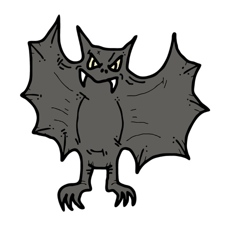 Bat draw Vector