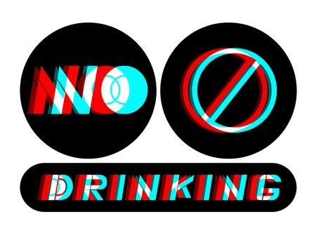 No drinking message