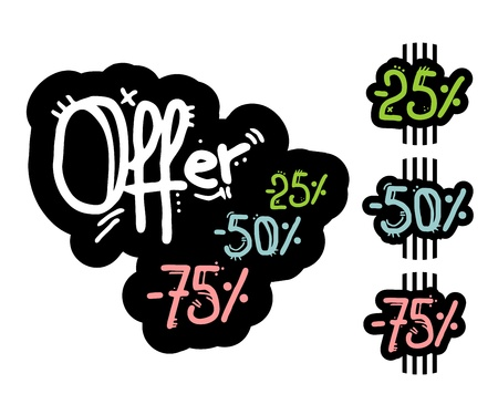 Offer stick design Vector