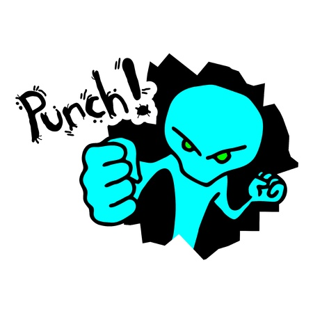 Punch cyan design Vector