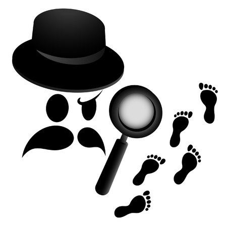 mysteries: Detective face Illustration