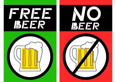 Free beer and no beer Vector