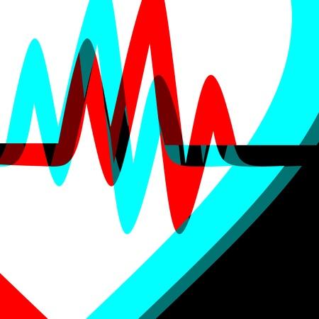 indeed: Color pulse background Illustration