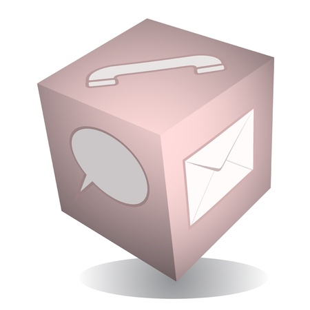 modernity: Web tech cube icon