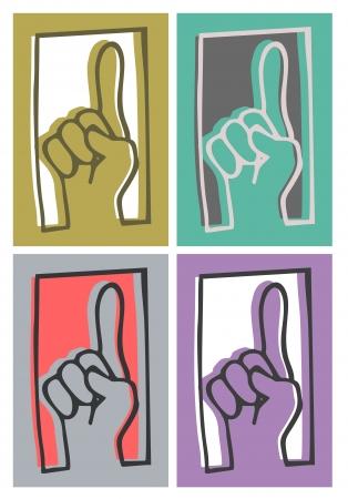 altogether: Up color finger