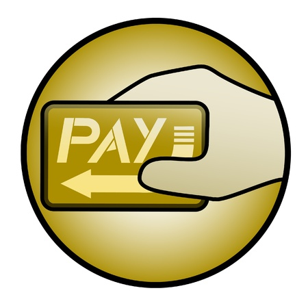 Gold web pay Stock Vector - 15005783