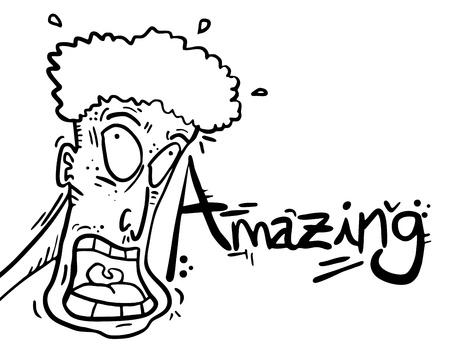 изумление: Удивительный мультфильм Иллюстрация