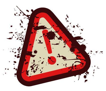 Dirty alarm sign Stock Vector - 15005901