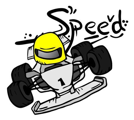 motor racing: Cartoon velocidad Vectores