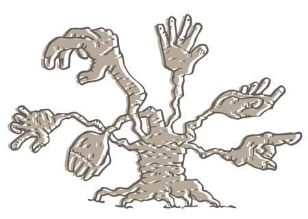 クリエイティブなファンタジーの手