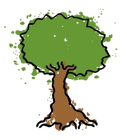 Art draw tree Vector