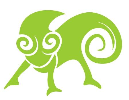 Grüne reptil Standard-Bild - 15291949