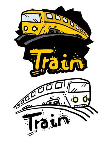Cartoon dise�o del tren