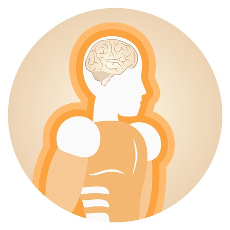 Medical brain human design Vector
