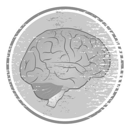 inovation: Vintage brain icon
