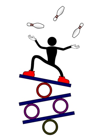Balance show man Stock Illustratie
