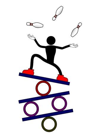 Balance show man Vectores