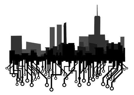 industrialization: City tech Illustration