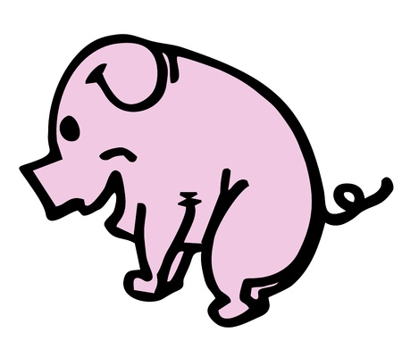 Cartoon pig Stock Vector - 15291723
