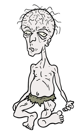 cartoon old man: Cartoon disegno vecchio Vettoriali