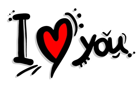 I love you art message Vector