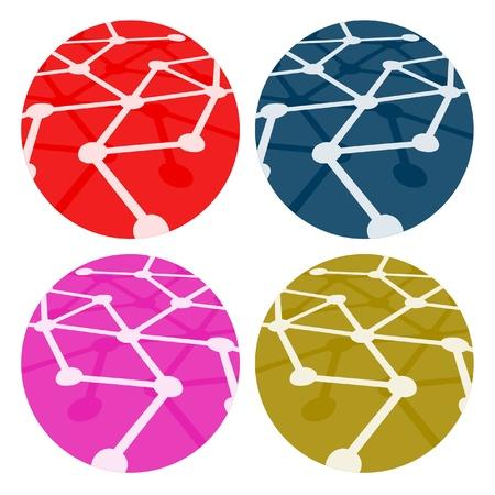 Creative color buttons design