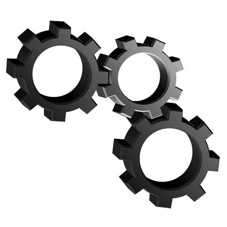 connexion: Machine pieces Illustration