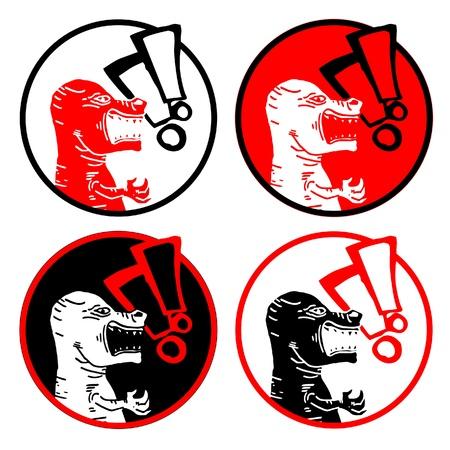 Danger animal sign Stock Vector - 15291245