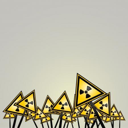 isotope: Radiation hazard background Illustration