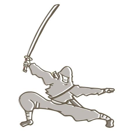 Ninja sword Vector