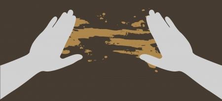 Hand paint art Stock Vector - 15291225