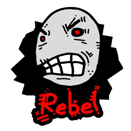 Rebel expression Stock Vector - 15291218