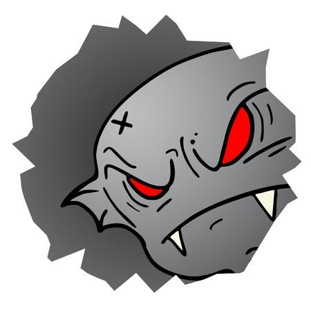 exterminate: Monster cara agujero Vectores